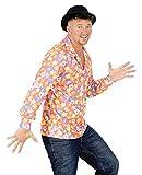 Foxxeo 40185 | buntes 70er Jahre Hippie Hemd für Herren Karneval Herren Party Gr. M - XXXL, Größe:L