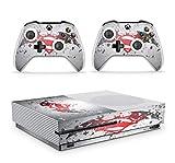Gizmoz n Gadgetz GNG Adesivi In Vinile Per Xbox One S Con Il Logo Di SUPERMAN V BATMAN Per Console E Per 2x Controllers