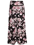 #9: Cutecumber Girls Georgette Floral Black Ankle Length Palazzo