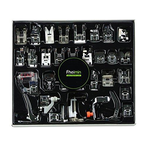 32pcs Pieds-de-biche multifonctionnel pour Brother Singer Machine à coudre domistique outils Set Remplacements Accessoires (1)