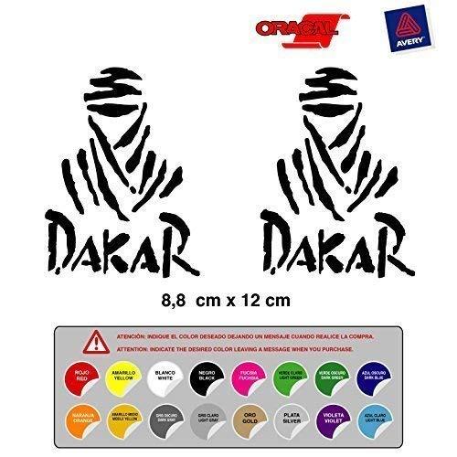 Pegatina Adhesivo Rally Dakar Coche Moto Troquelada Alta Calidad 16 Colores Disponibles Kit 2 Unidades
