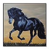 Display08mit Pferd Bild Deko Dekoration Wohnzimmer, Wandbild, Geschenk 30*30cm multi
