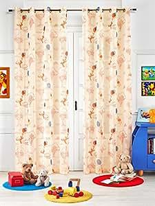 TENDA PANNELLO VELO ARREDO CON BORCHIE DISNEY WINNIE THE POOH 150 x 290 cm PANNA