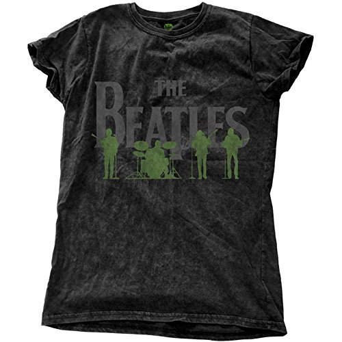 The Beatles T Shirt Saville Row Line Up offiziell Damen Nue Snow Wash Skinny Fit -