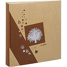 Álbum de fotos con fundas Kraftty 500 fotos, color marrón