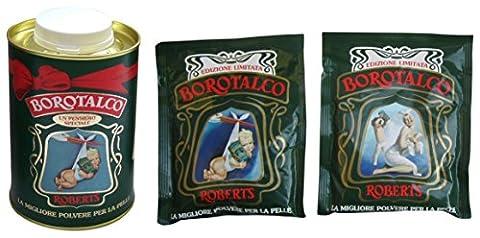 Roberts: Borotalco® Talc Powder 500g (17.6oz), Special Edition + 2 Free 100g (3.5oz) Vintage Refills [ Italian Import ]