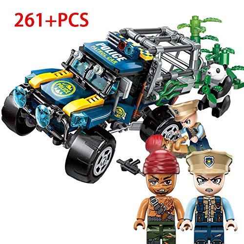 HLDX 261 + pcs Polizei Serie rette den riesigen Panda Modell bausteine   Spielzeug Kinder pädagogisches Spielzeug Jungen und mädchen Geburtstagsgeschenke