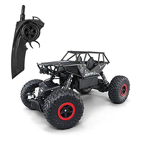 POBO RC Cars Off-Road Vehicles 2.4Ghz 4WD Radio Controlled Trucks Remote Control Rock Crawler High Speed Toy Racer (Black)