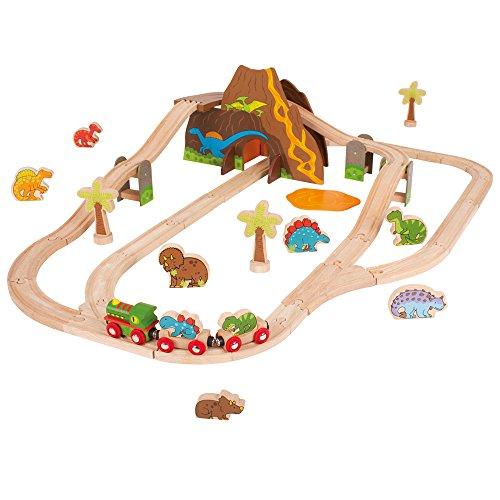 Bigjigs Rail Circuit de Chemin de Fer thème Dinosaure
