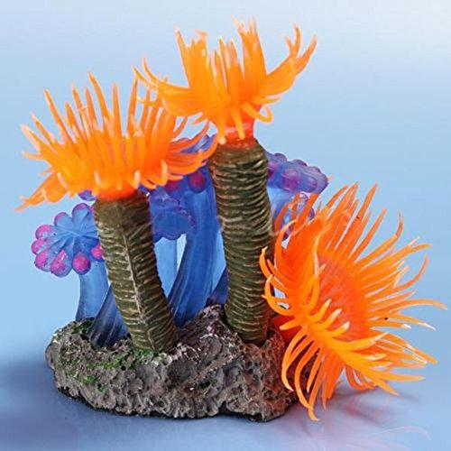 Bobury Künstliche Harz Koralle Aquarium Fisch Tank Ornament U-Boot Unterwasser Dekor