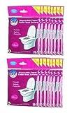 GoHygiene! Travel Essential - Disposable Paper Toilet Seat Covers - 18 Packs (180pcs) + 2 Free Packs!