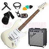FENDER Squier Stratocaster BULLET ATW SSS colore bianco chitarra elettrica Amplificatore Borsa Accordatore ecc.
