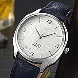 Relojes Hermosos, YAZOLE Hombre Reloj Casual Chino Cuarzo Reloj Casual PU Banda Minimalista Moda...