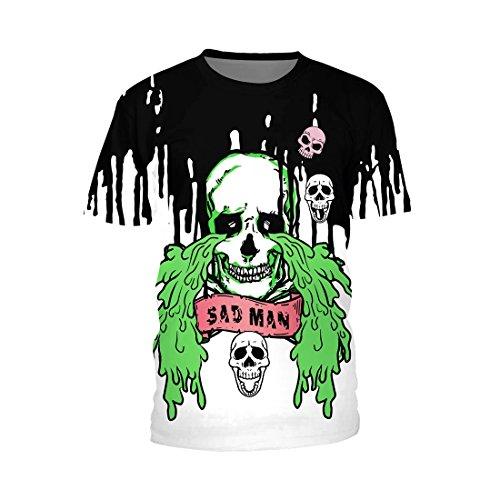 Jiayiqi Camiseta con Estampado De Calavera De Hombre Triste...