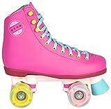 Kinder Rollschuhe NEU 34 35 36 37 38 39 40 Pink weiß schwarz Discoroller Disco Damen (Pink, 37) -