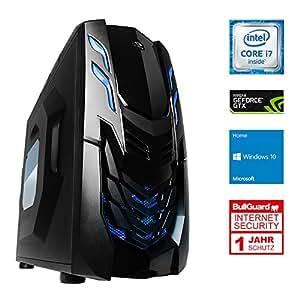 ONE Gaming Ultra High End X PC 8 · Intel i7-7700k (4 x 4.20GHz) · 8GB Nvidia GeForce GTX 1070 · 16GB DDR4 RAM · 240GB SSD · 2000GB HDD · MSI Z270-A PRO · Windows 10 Home · Leiser Gaming-PC · VR Ready · Kaby lake · 4K · CAD