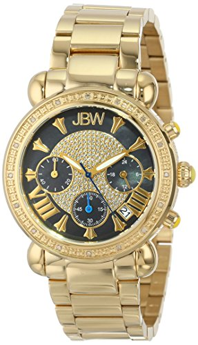 JBW WOMEN'S VICTORY DIAMOND 37MM 18K GOLD PLATED CASE QUARTZ WATCH JB-6210-B