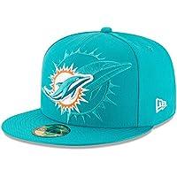 New Era Nfl Sideline 59Fifty Miadol Otc - Cappello Linea Miami Dolphins da Uomo, colore Turchese, taglia 7 1/8