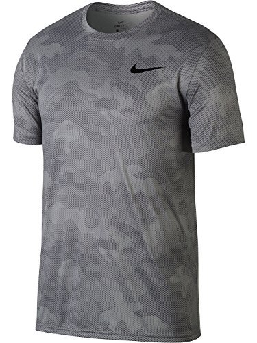 Nike Herren Dry Leggend Camo Aop Kurzarm T-Shirt, Atmosphere Grey/Gunsmoke, XL