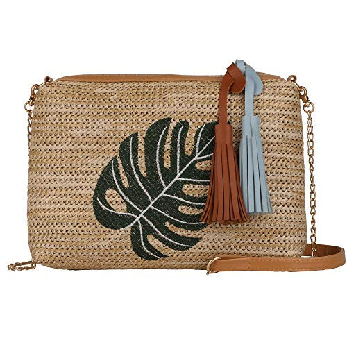 Quadratische Stroh Tasche Handtaschen Frauen Sommer Rattan Tasche handgemachte gewebte StrandSchulter Messenger Bag