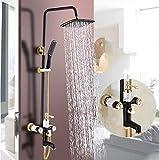 Retro Duschset Alle Kupfer Schwarz Zuhause Badewanne Wasserhahn