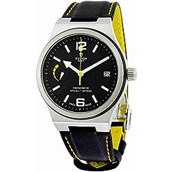 Tudor Bandera de North automático Negro Dial Negro Cuero Mens Reloj 91210nbkls