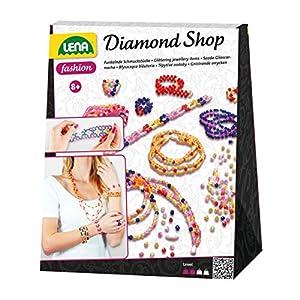 Lena 42132-Juego de Manualidades Diamond Shop con Perlas de 2.000