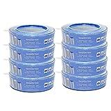 Signstek 8 Stk Nachfüllkassetten für Angelcare Windeleimer Verbesserung Version, stechender Geruch versperren