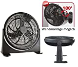 Bodenventilator Power Windmaschine Ventilator Wandventilator Standventilator Luftkühler 180°...