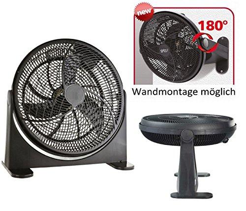 Bodenventilator-Power-Windmaschine-Ventilator-Wandventilator-Standventilator-Luftkhler-180-neigbar-Wandmontage-mglich-75Watt-41cm
