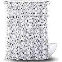 Cortina de la ducha XINGUANG Simple de impresión de poliéster en Blanco y Negro Cortina de baño (Diamante 180 cm * 180 cm) Cortina