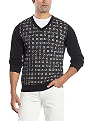 Blackberrys Mens Cotton Sweater (8907196595599_NL-DELBAMA_42_Black)