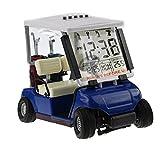 crestgolf weiß Mini Golf Cart Alarm Uhr, Miniatur Golf Buggy, 1Stück