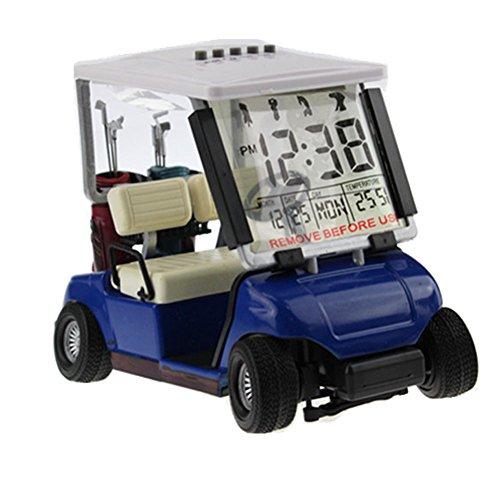 crestgolf weiß Mini Golf Cart Alarm Uhr, Miniatur Golf Buggy, 1Stück -