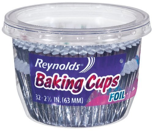 Reynolds Wrap Foil Baking Cups 32 Count (Pack of 8) Total 256 Cups by Reynolds Reynolds Baking Cups