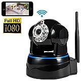 IP Kamera, NOA Wireless 1080P Full HD Tag Überwachungskamera und Tag-/Nacht-Webcam (Weiß) (schwarz)