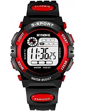 Children 's watch wasserdicht luminous multi - functional sports electronic-F