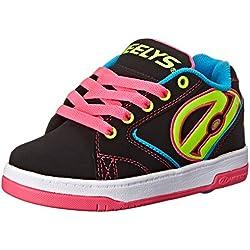 Heelys Propel 2.0 770512, Chaussures roue fille, Black/Neon Multi, 34
