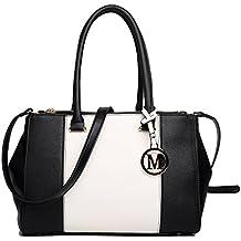 6241ce837f8a3 Miss LuLu Handtasche Schultertasche Ledertasche Damen Shopper PU Leder  Tasche Elegant