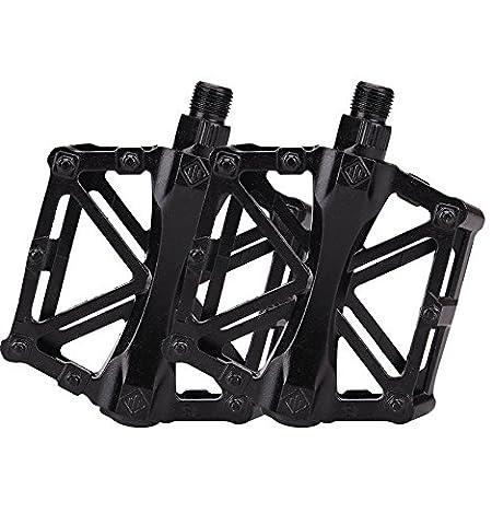 antidérapant Cyclisme Pédales en alliage d'aluminium pour VTT de vélo VTT Route BMX Pédales, Black ball foot