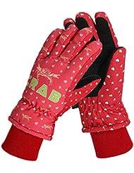 Glield Anti-Vent Gants de Ski Imperméables Thermiques à Paumes Antidérapantes- Unisexe Enfant ETST02