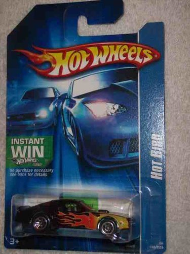 #2006-198 Hot Bird Black Instant Win 07 Card Collectible Collector Car Mattel Hot Wheels by Hot Wheels