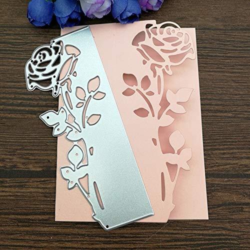 Rose Blätter grenze Metall Stanzformen Schablonen Gestanzt für DIY Scrapbooking Album Papier Karte Prägung [] Rosen Grenze