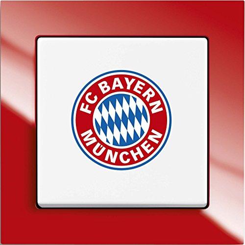 Preisvergleich Produktbild Busch-Jaeger Wechselschalter 2000/6UJ/03 Fanschalter FC Bayern München, 1012-0-2201