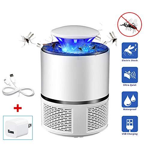 HYANF Fotocatalizador USB lámpara LED para Matar Mosquitos, 360 ° Seguro silencioso portáti Impermeable Resistente a Insectos, luz para Uso en Interiores y Exteriores