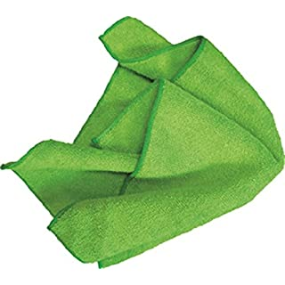 AMMEX - MF50G16X16GR - Microfiber Towel - Fast Absorbing, Soft and Lint Free, Machine Washable, Green (Case of 144)
