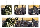 Gigantische Freiheitsstatue in New York inkl. Lampenfassung E27, Lampe mit Motivdruck, tolle Deckenlampe, Hängelampe, Pendelleuchte - Durchmesser 30cm - Dekoration mit Licht ideal für Wohnzimmer, Kinderzimmer, Schlafzimmer