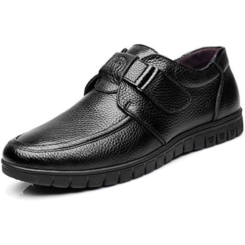 respirant Chaussures Noir Homme Casual en cuir fY76bgy