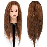 Peluquería Head Exercise Manikin Hairstyle - 100% Natural Hair para estudio profesional en cosmetología -