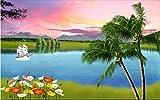 HHCYY Tapete 3D Kundenspezifisches Wandgemälde Flusslandschaft Und Frische Fernsehsofa-Hintergrundwand Tapete 3D-250cmx175cm